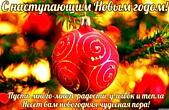 Открытка с наступающим Новым годом с пожеланием, Пусть много-много радости, улыбок и тепла Несет вам новогодняя чудесная пора!