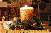 Открытка с Рождеством, свечка