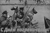 Открытка с днем пограничника, пограничники и собака