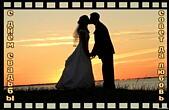 Открытка с Днем свадьбы, молодожены