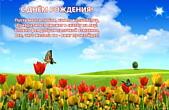 Открытка с Днем Рождения с стихотворением, цветы, тюльпаны и бабочка
