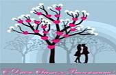 Открытка с Днем Святого Валентина, влюбленные