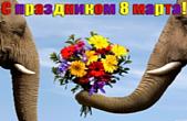 Открытка с праздников 8 марта прикольня