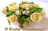 Открытка с Днем Рождения, цветы, букет в вазе